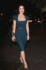 DITA VON TEESE Night Out in Los Angeles 08/24/2016