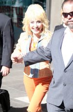 DOLLY PARTON Out and About in New York 08/23/2016