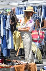 DREW BARRYMORE Shopping at a Flea Market in Los Angeles 08/14/2016
