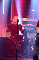 DUA LIPA Performs at Tonight Show Starring Jimmy Fallon