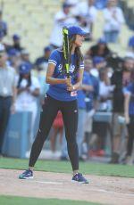 EIZA GOZALEZ at Hollywood Stars Game Dodger Stadium in Los Angeles 08/27/2016