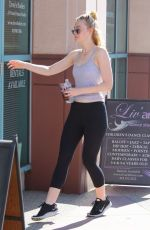 ELLE FANNING Arrives at Dance Class in Los Angeles 08/16/2016