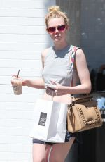 ELLE FANNING Out and About in Los Angeles 08/12/2016