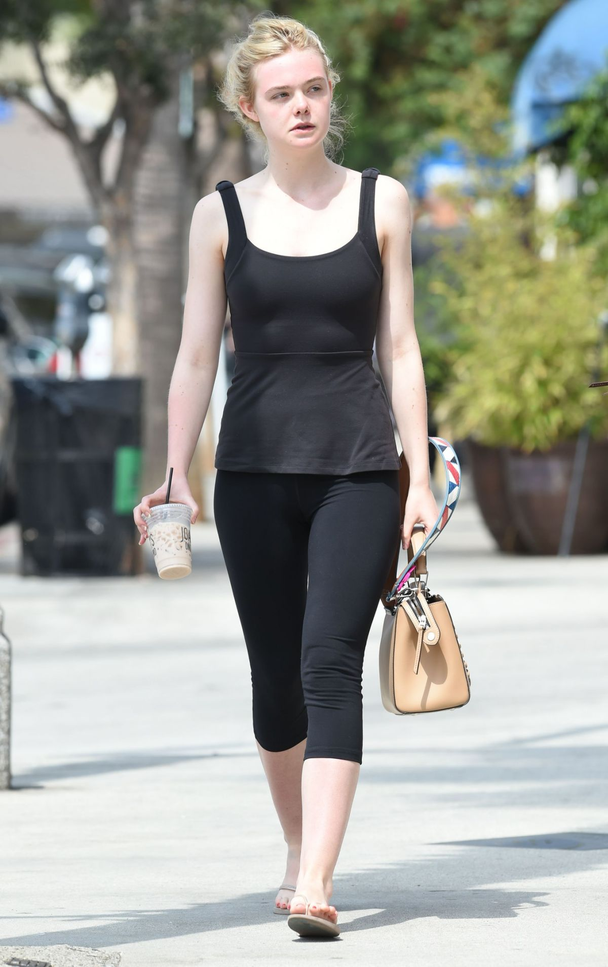 ELLE FANNING Out and About in Studio City 08/27/2016