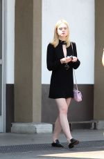 ELLE FNNING Out Shopping in Los Angeles 08/24/2016