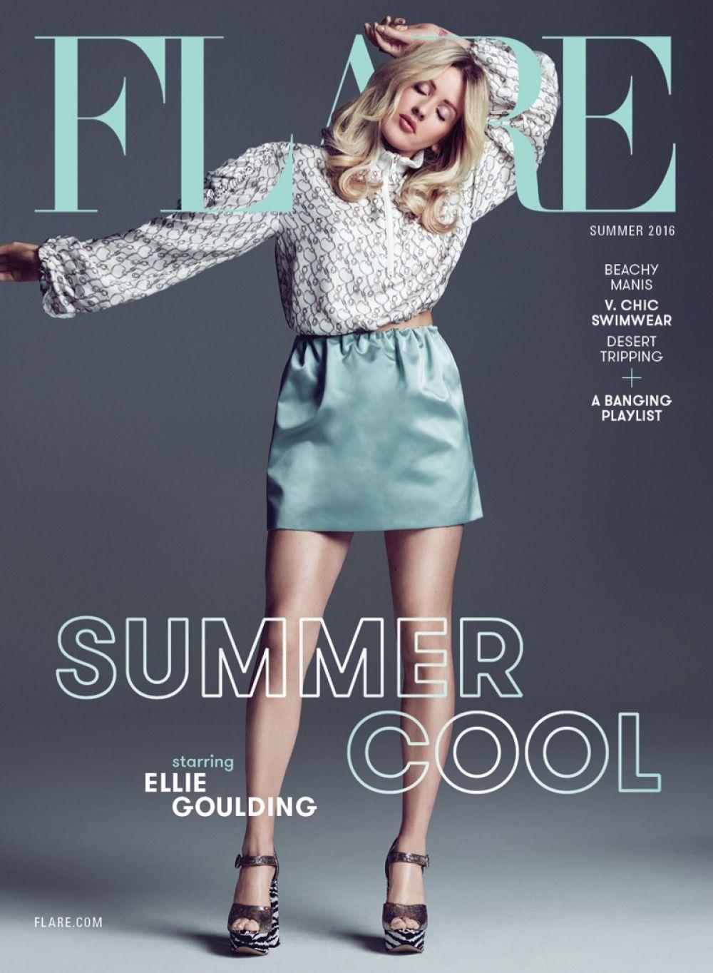 ELLIE GOULDING in Flare Magazine, Summer 2016 Issue