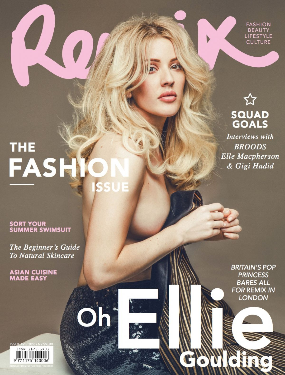ELLIE GOULDING on the Cover of Remix Magazine, Issue #91