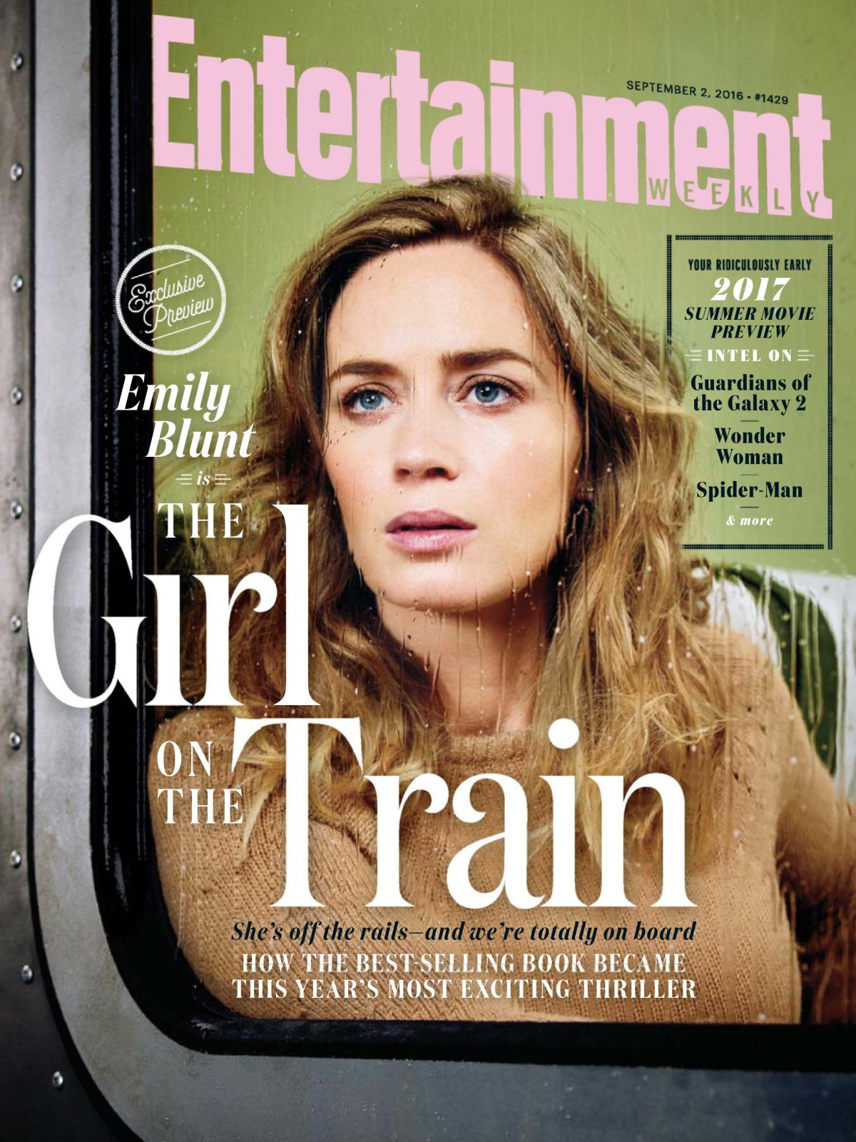 EMILY BLUNT in Entertainment Weekly Magazine, September 2016 Issue