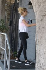 EMMA ROBERTS Heading to a Gym on West Hollywood 08/03/2016
