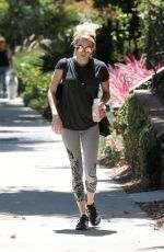 EMMA ROBERTS Leaves a Friends House in Beverly Hills 08/11/2016
