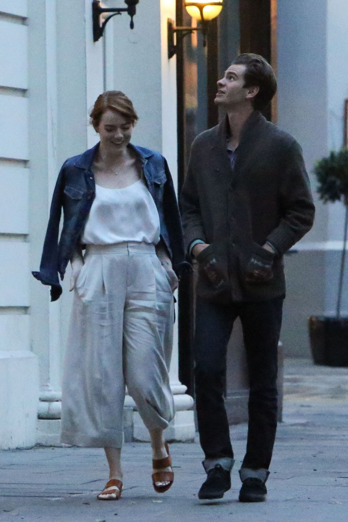 EMMA STONE Out and About in London 08/21/2016