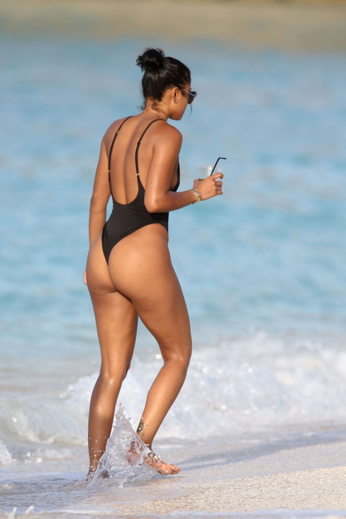 ENIKO PARRISH in Swimsuit at a Beach in St. Barts 08/15/2016