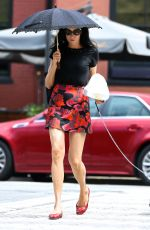 FAMKE JANSSEN Out with Her Dog in New York 08/08/2016
