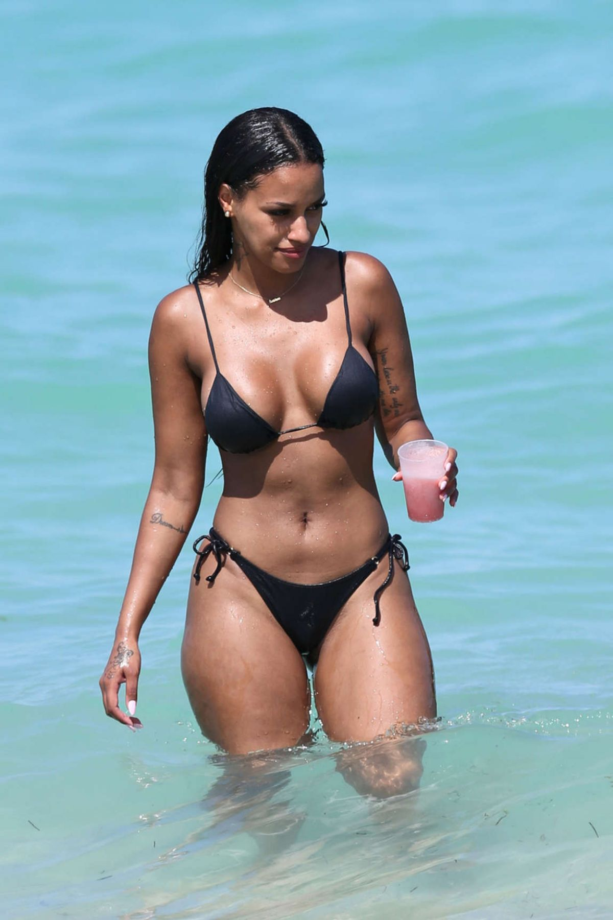 FANNY ROBERT NEGUESHA in Bikini at a Beach in Miami