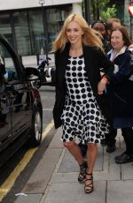 FEARNE COTTON at BBC Radio 2 Studios in London 08/20/2016