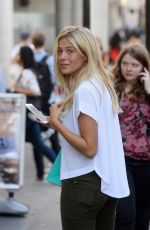 FRANKIE GAFF Out in London 08/15/2016