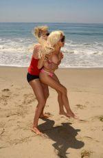 FRENCHY MORGAN and Her New Boyfriend Mauricio Galdi on the Beach in Malibu 08/19/2016