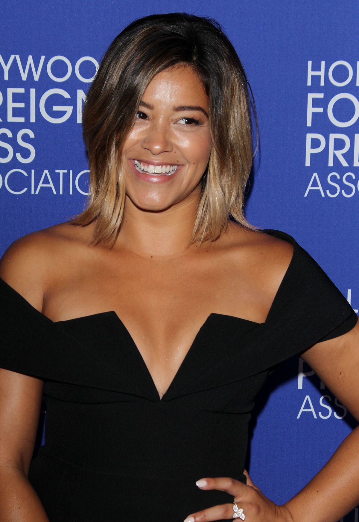 GINA RODRIGUEZ at Hollywood Foreign Press Association's Grants Banquet in Beverly Hills 08/04/2016