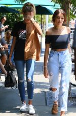 HAILEY BALDWIN and MADISON BEER Out in West Hollywood 08/08/2016