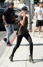 HAILEY BALDWIN at Urth Cafe in Beverly Hills 08/18/2016
