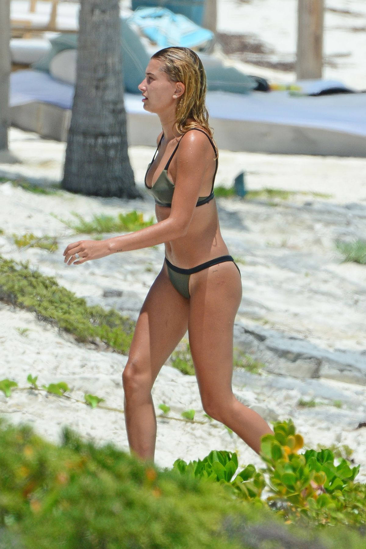 HAILEY BALDWIN in Bikini on the Beach in Turks and Caicos 08/12/2016