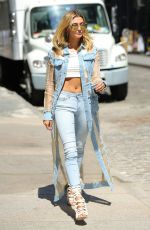 HAILEY BALDWIN Out and About in New York 08/24/2016