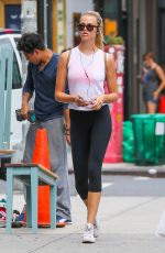 HAILEY CLAUSON Out and About in New York 08/20/2016