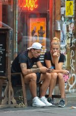 HAILEY CLAUSON with Her Boyfriend Out in Downtown Manhattan 08/05/2016