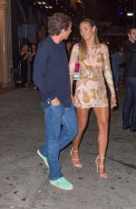 HEIDI KLUM and Vito Schnabel Night Out in New York 08/28/2016