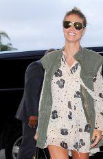 HEIDI KLUM Arrives at LAX Airport in Los Angeles 08/03/2016
