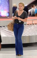 HILARY DUFF at JFK Airport in New York 08/07/2016