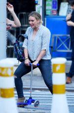 HILARY DUFF Heading to La Esquina Restaurant in New York 08/16/2016