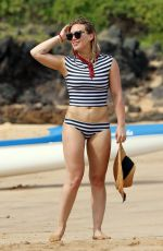 HILARY DUFF in Bikini Bottom at a Beach in Malibu 08/04/2016