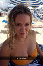HILARY DUFF in Bikini Top, 08/27/2016 Snapchat Pictures