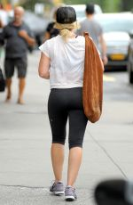 HILARY DUFF Leaves a Gym in New York 08/18/2016