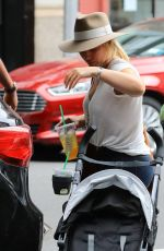 HILARY DUFF Out in New York 08/18/2016