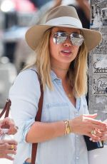 HILARY DUFF Out Shopping in New York 08/12/2016