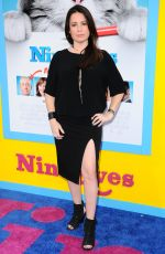 HOLLY MARIE COMBS at 'Nine Lives' Premiere in Hollywood 08/01/2016