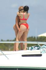 KYLIE JENNER in Bikini Celebrates Her 19th Birthday at a Beach in Turks & Caicos 10/08/2016