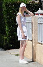 ELLE FANNING Leaves Her House in Los Angeles 08/29/2016