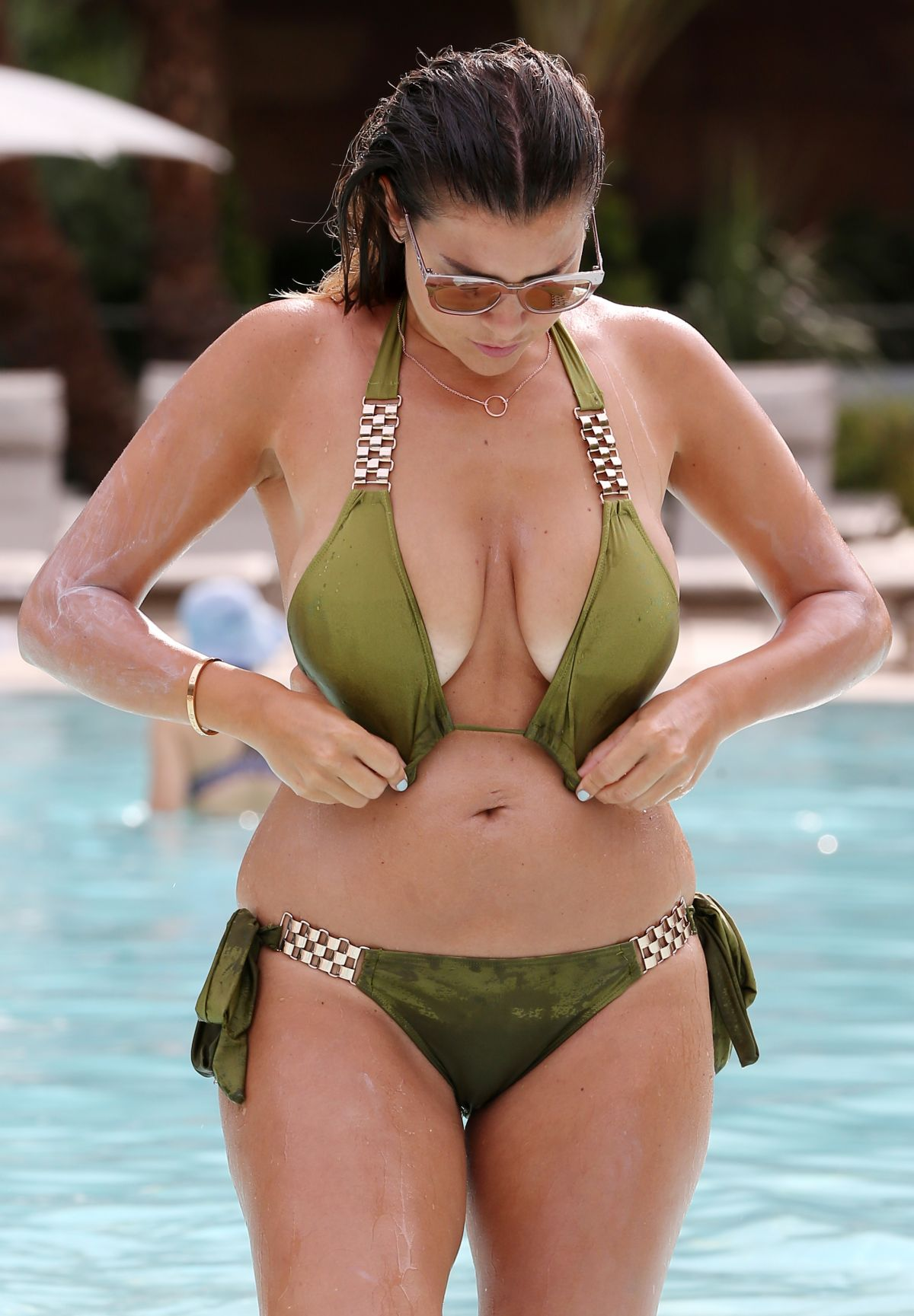 IMOGEN THOMAS in Bikini at a Pool in Las Vegas 08/30/2016