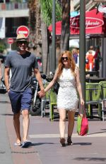 ISLA FISHER Out and About in Juan-Les-Pins 08/05/2016
