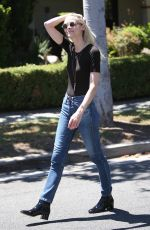 JAIME KING in Jeans Out in Beverly Hills 08/15/2016