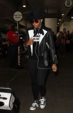 JANELLE MONAE at LAX Airport in Los Angeles 08/23/2016