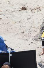 JANUARY JONES on the Beach in Malibu 08/03/2016