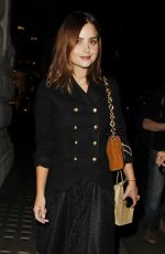 JENNA LOUISE COLEMAN Arrives at My Burberry Black Launch Event in London 08/22/2016