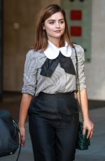 JENNA LOUISE COLEMAN Leaves BBC Studios in London 08/31/2016