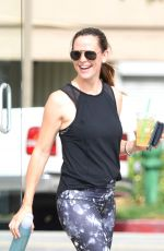 JENNIFER GARNER in Spandex Out in Brentwood 08/02/2016