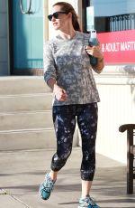 JENNIFER GARNER Leaves a Gym in Brentwood 08/13/2016