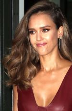 JESSICA ALBA Arrives at Tonight Show Starring Jimmy Fallon in New York 08/25/2016